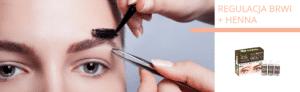 Regulacja brwi i henna