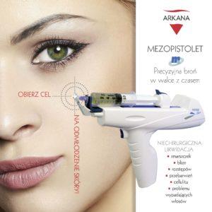 Mezopistolet - likwidacja zmarszczek, blizn, rozstępów, cellulitu