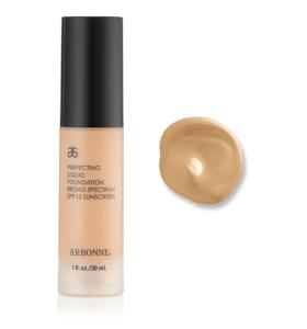 Arbonne Makeup - Kryjący podkład w płynie SPF 15 - Honey Beige #7626