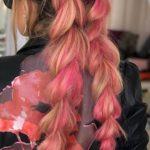 kolorowe długie włosy sylwestrowe